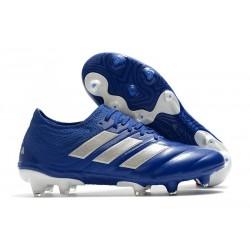 adidas Botas de fútbol Copa 20.1 FG Azul Royal Plateado metalizado