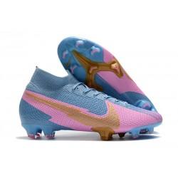 Nike Mercurial Superfly 7 Elite FG ACC Azul Rosa Oro
