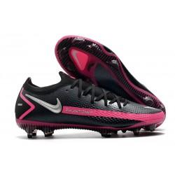 Botas fútbol Nike Phantom GT Elite FG - Negro Plateado Explosión Rosa