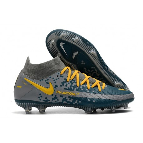 Bota Nike Phantom GT Elite Dynamic Fit FG Armada Gris Amarillo
