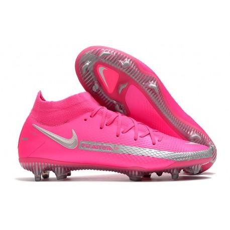 Nike Phantom GT Elite DF FG Fútbol Zapatillas - Rosa Plata