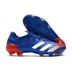 Zapatillas adidas Predator Mutator 20.1 Low FG Azul Blanco Rojo