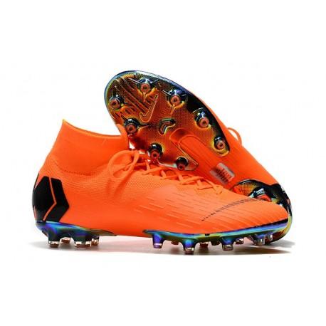 Zapatos de Fútbol Nike Mercurial Superfly 6 Elite AG Naranja Negro