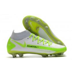 Nike Phantom GT Elite DF FG Fútbol Zapatillas - Blanco Verde
