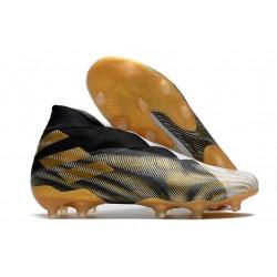 adidas Nemeziz 19+ FG Botas y Zapatilla Blanco Dorado Metalizado Negro