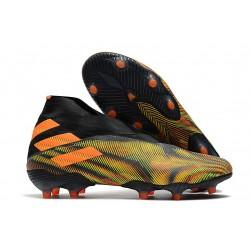 adidas Nemeziz 19+ FG Botas y Zapatillas de Fútbol Verde Negro Naranja