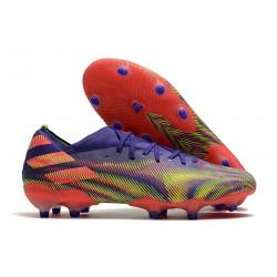 Botas de Futbol adidas Nemeziz 19.1 FG - Tinta Energia Rosa Senal Verde
