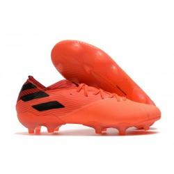 Botas de Futbol adidas Nemeziz 19.1 FG - Signal Coral Negro Rojo Gloria