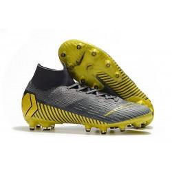 Zapatos de Fútbol Nike Mercurial Superfly 6 Elite AG Gris Oro