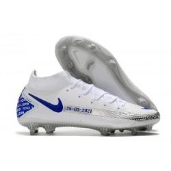 Nike Phantom GT Elite DF FG Fútbol Zapatillas - Blanco Azul