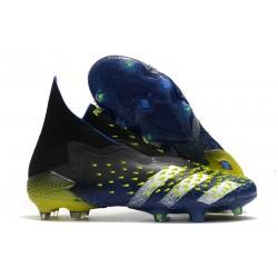 Zapatos adidas Predator Freak+ FG Azul Negro Blanco Amarillo Solar