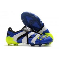 Zapatos de Fútbol adidas Predator Accelerator FG Azul Blaco Amarillo