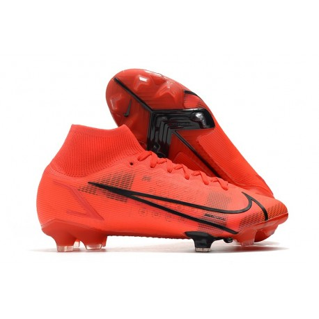 Zapatillas Nike Mercurial Superfly VIII Elite DF FG Rojo Negro