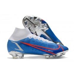 Zapatillas Nike Mercurial Superfly VIII Elite DF FG Azul Blanco Rojo