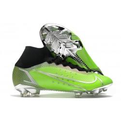 Zapatillas Nike Mercurial Superfly VIII Elite DF FG Verde Plata Negro