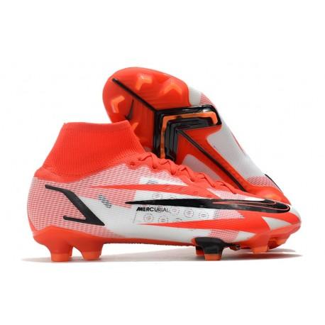 Nike Superfly 8 Spark Positivity CR7 Elite FG Chile Rojo Negro Blanco