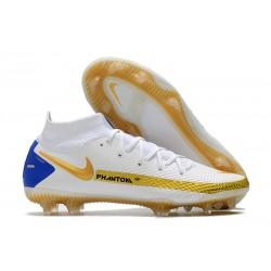 Botas Nike Phantom GT Elite DF FG Blanco Oro Azul