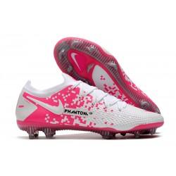 Zapatos Nike Phantom GT Elite FG Blanco Rosa
