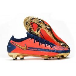 Zapatos Nike Phantom GT Elite FG Naranja Oro Azul