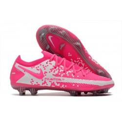 Zapatos Nike Phantom GT Elite FG Rosa Blanco