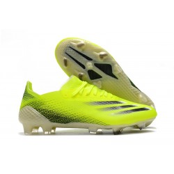 Bota de futbol adidas X Ghosted.1 FG Amarillo Solar Negro Azul Royal