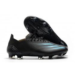 Bota de futbol adidas X Ghosted.1 FG Negro Cyan Gris