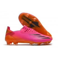 Bota de futbol adidas X Ghosted.1 FG Rosa Negro Naranja