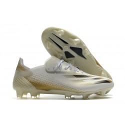 Bota adidas X Ghosted.1 FG Blanco Negro Dorado Metalizado Jaspeado