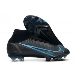 Zapatillas Nike Mercurial Superfly VIII Elite DF FG Negro Gris Hierro