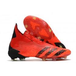 Zapatos adidas Predator Freak+ FG Rojo Negro Rojo Solar