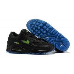 Nike Zapatos Hombres Air Max 90 Negro Azul