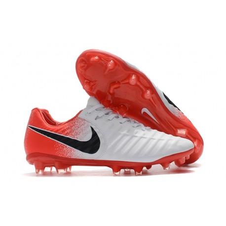 Botas Nike Tiempo Legend VII Elite FG - Blanco Rojo