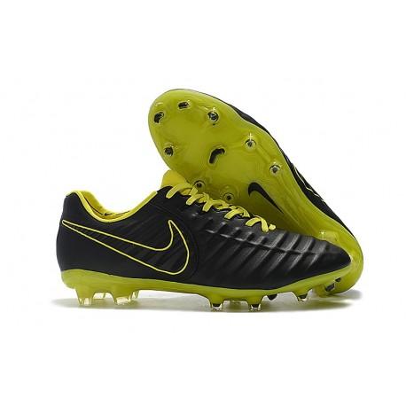 Botas Nike Tiempo Legend VII Elite FG - Negro Amarillo